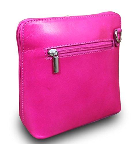 Made in italy sac à main clutch cross body bag cuir rose