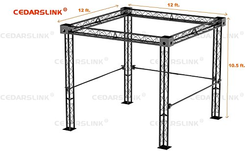 Trade Show Booth, Trusses DJ Stage 12' X 12' X 10' Metal Truss Triangle - Truss Booth
