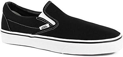 Vans Classic Slip-On Skate Shoe Size 10 Black White
