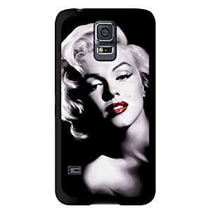 Season.C Black White Marilyn Monroe Red Lip Hard Back Case Cover for Samsung Galaxy S5 i9600