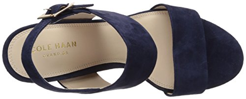 Sandal Blakely Blue Cole Womens Marine Mid Heeled Suede Haan 6XvqEq0P