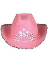 Child Pink Blinking Tiara Cowboy Hat