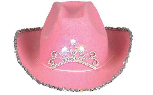 Blinking Pink Tiara Cowboy Child