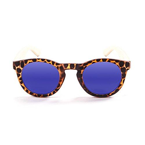 Ocean Sunglasses San Francisco Lunettes de soleil Demy Brown Frame/Wood Natural Arms/Revo Blue Lens 9jq1A