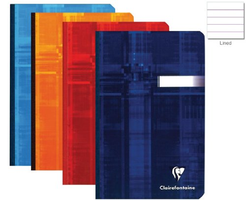 (Clairefontaine Clothbound Assorted Ruled 4 1/4 x 6 3/4 Notebook -)