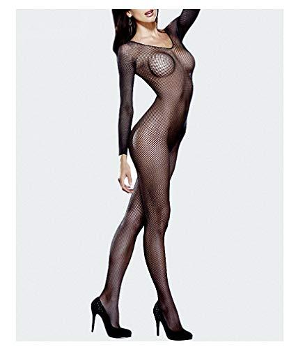 Womens Fishnet Stockings Mesh Bodysuit Teddy Pantyhose Full Body Sexy Bodysuit Fishnet Bodystocking Plus Size Lingerie Body Black Bodysuit Only One Size