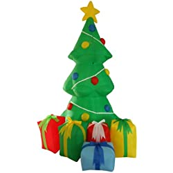 5 Foot Inflatable Christmas Tree with Gift Boxes Yard Garden Decoration