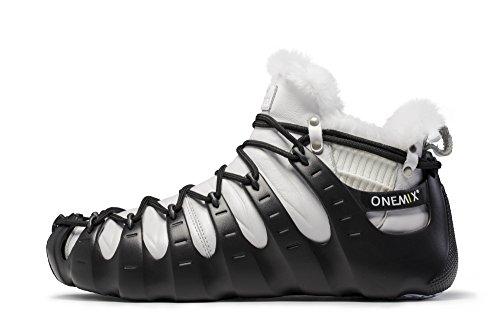 Onemix Hoge Wintersporten Laarzen Fashion Sneakers Drie Manieren Van Het Dragen Van Romeinse Schoenen Blackwhite