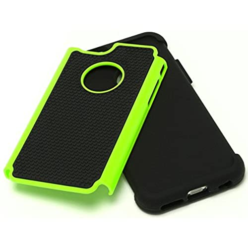 """outlet iPhone 6 Case, Bastex Hybrid Deluxe Green and Black Rugged Shock Armor Case for Apple iPhone 6, 4.7"""" 6th GenerationINCLUDES A STYLUS"""