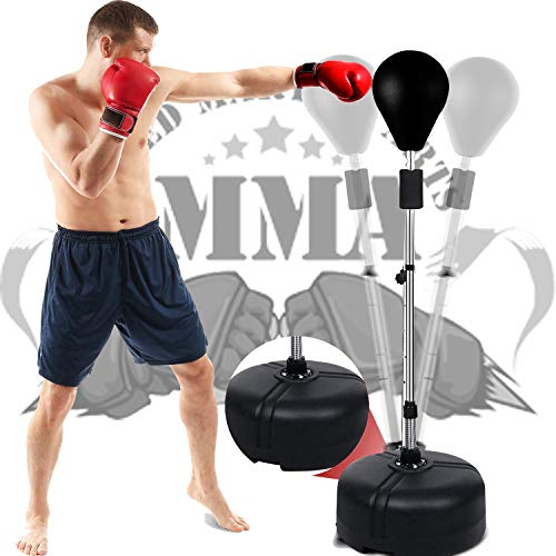 OppsDecor Punching Bag with Stand,Reflex Bag Freestanding Punching Ball Boxing Speed Bag,Great for Training,Stress…