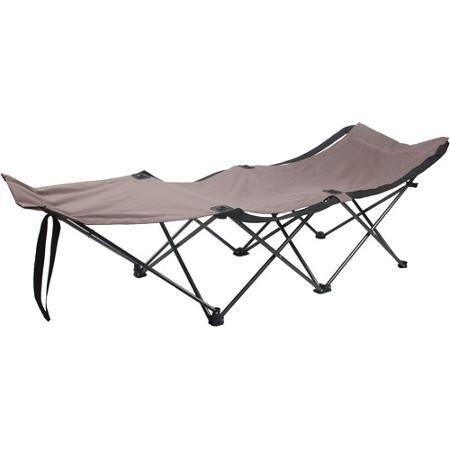 Ozark Trail Easy-Fold Wide Camp Cot Made of Durable Polyester and Steel Frame by Ozark Trail