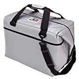 AO Coolers Water-Resistant Vinyl Soft Cooler with High-Density Insulation, Silver, 48-Can