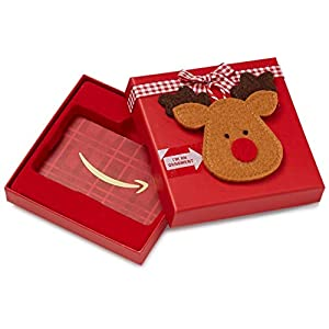 Amazon.com Gift Card in a Reindeer Ornament Box