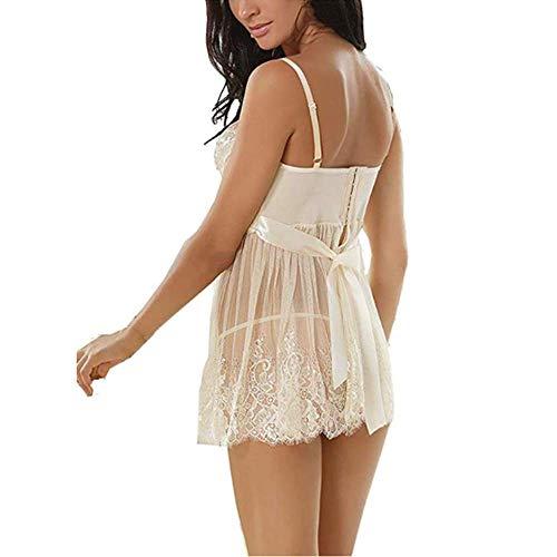 Donna a028 2 Pezzi Bianco lingerie Mambain Sexy zSwqfzT