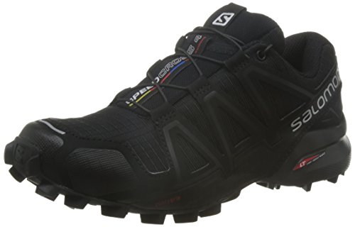 Salomon L38309700, Zapatillas de Trail Running para Mujer Negro (Black/black Metallic)
