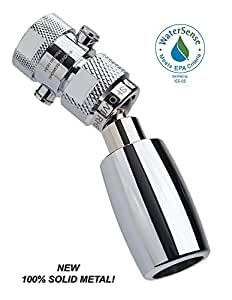 High Sierra's All Metal WaterSense Certified 1.5 GPM High Efficiency Low Flow Showerhead with Trickle Valve. Available in: Chrome, Brushed Nickel, Oil Rubbed Bronze, or Polished Brass