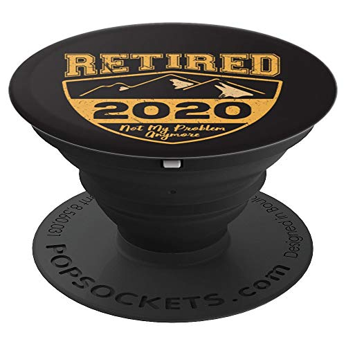 Vintage Retired 2020 Not My Problem Anymore Retirement PopSockets Grip and Stand for Phones and Tablets (Senior Citizen Watch)