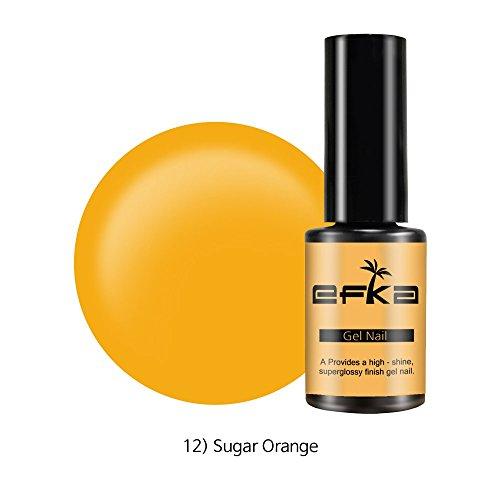 Color Gel by EFKA | UV LED Soak off Polish for Nail and Pedicure 50 Color 0.17oz/5ml (012 Sugar (012 Oz Stick)