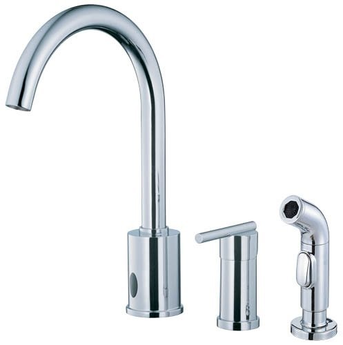 Danze D423058 Parma Dual Function Kitchen Faucet with Single Handle and Matching Side Spray, Chrome (Budget Kitchen Faucet 1 Hole)