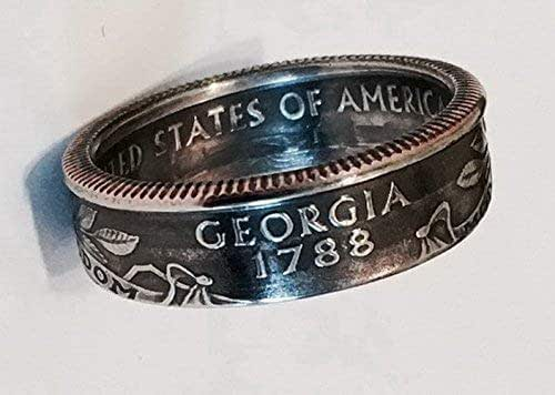"""""""Real U.S. Quarter Coin Rings. From years 1965 to 2008 and from all States"""""""