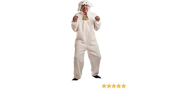 Disfraz para Navidad de Oveja blanca para adultos: Amazon.es ...