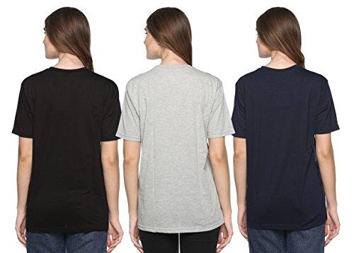 41JDYyjlqLL SHAUN 69GAL Women Round Neck T-Shirt(Pack of 3)