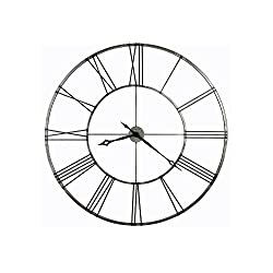 Stockton Wall Clock With Aged Nickel Finish Brushed Aged Nickel Dimensions: 2.25D X 49 Diameter Weight: 23 Lbs