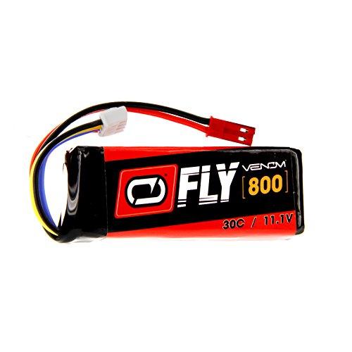 Venom Fly 30C 3S 800mAh 11.1V LiPo Battery with JST Plug – Compare to E-flite EFLB8003SJ30