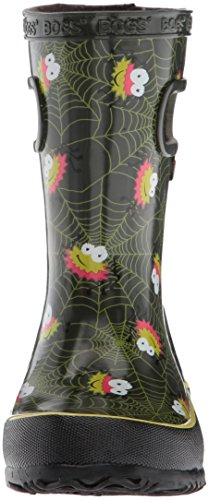 Bogs Kids' Skipper Waterproof Rubber Rain Boot for Boys and Girls,Smiley Spiders/Dark Green/Multi,11 M US Little Kid by Bogs (Image #4)