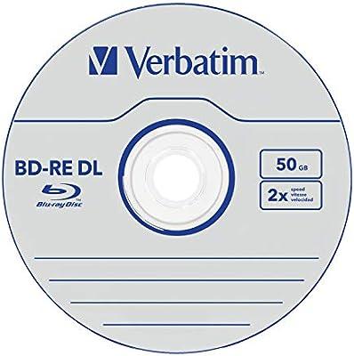 Verbatim 404785 - Pack de 5 Blue Ray BD-RE 50GB: Amazon.es ...