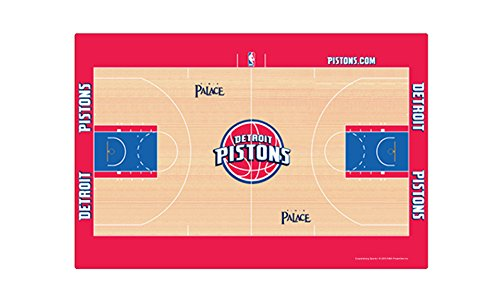 Detroit Pistons Table - Coopersburg NBA Detroit Pistons NBA Placemat - 4-Piece, Tan, 11 3/8