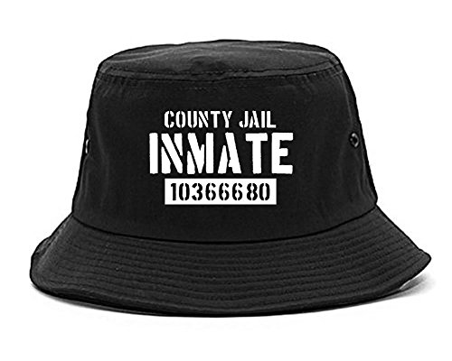 Kings Of NY County Jail Inmate 666 Halloween Costume Mens Bucket Hat Black