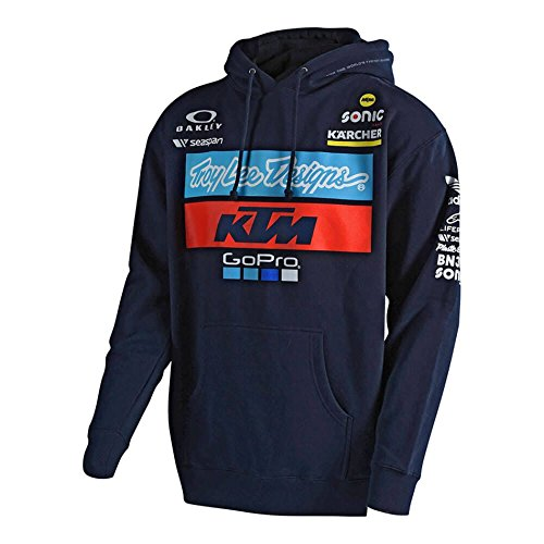 Troy Lee Designs Official Team KTM Licensed Pullover Fleece (Medium, Navy)