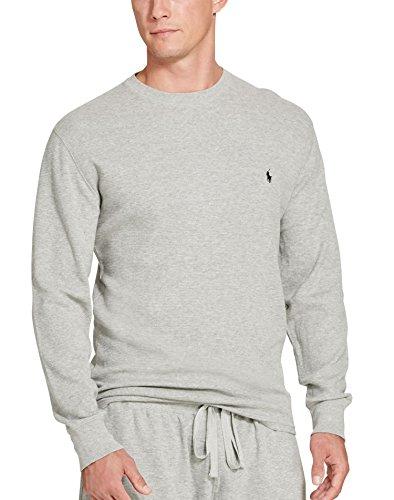 Polo Ralph Lauren Mens Cotton Crew Neck Thermal Shirt Gray L - Neck Mens Thermal Crew