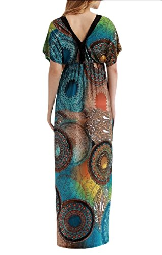 Maxi Coolred Boho Dress Short Women 4 Beach Oversized Sleeves Long Floral 00frqC