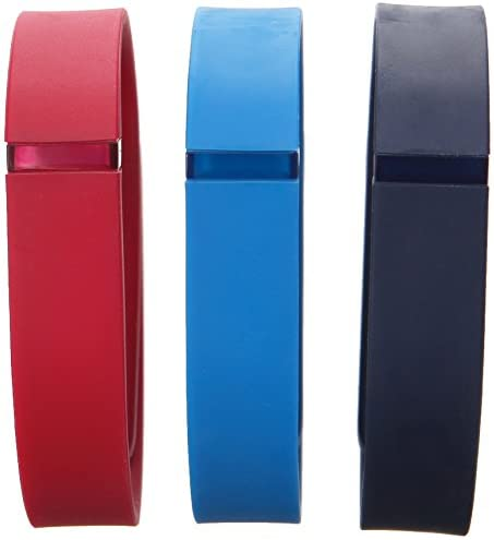 Fitbit Flex Classic Accessory Pack, Navy/Red/Blue, Large