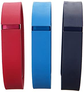 Fitbit Flex Classic Accessory Pack, Navy/Red/Blue, Large (B00RCKGV1S) | Amazon Products