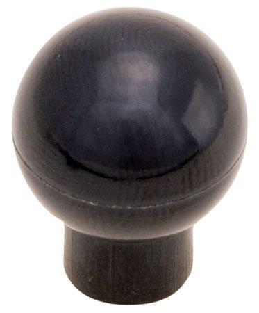 1 23/32 dia., 1/2-13 x 7/8 Molded., Black Phenolic Plastic Ball Knob w/Shank (1 Each)