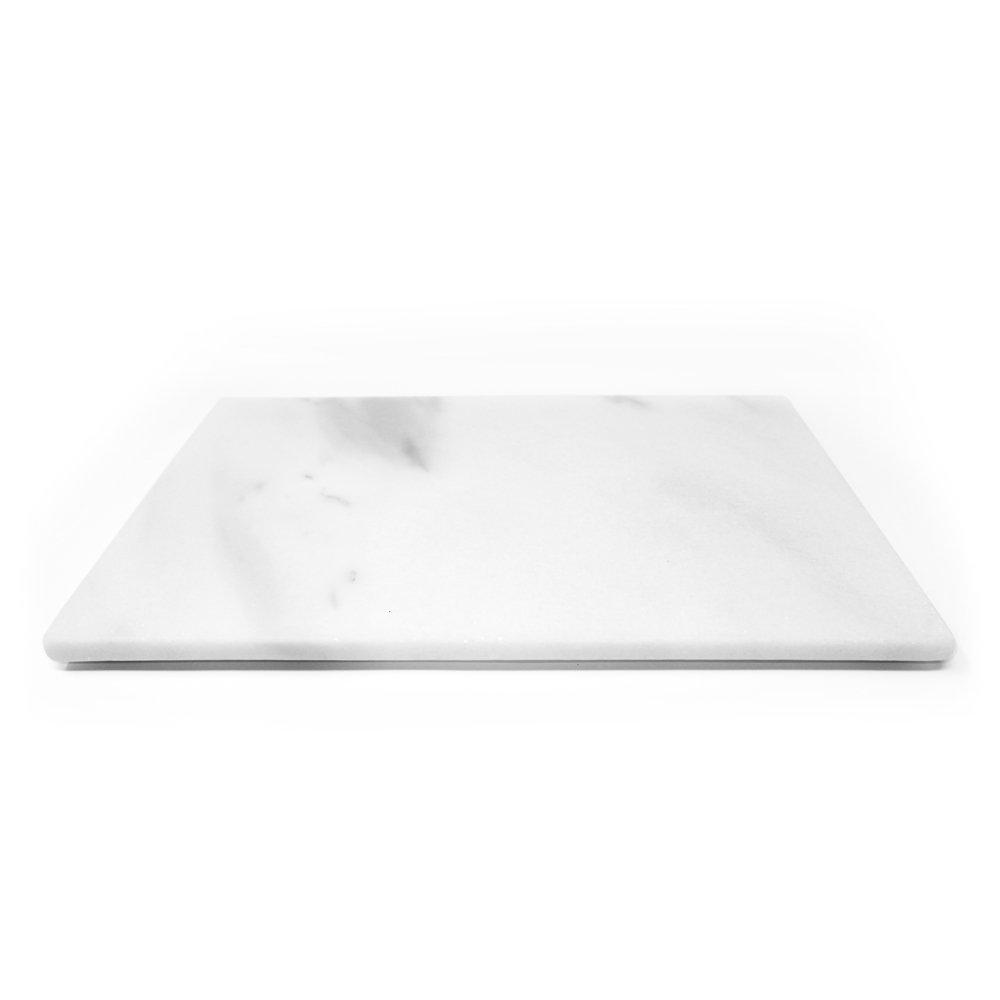 Marbleobject Italian Marble 8'' x 12'' Cheese Plate Tray Pastry Board/Cutting Board, Italian Natural Stone Tray X-mas Gift