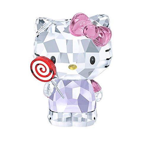 Swarovski Crystal Hello Kitty Lollipop Figurine 5269295 Crystal Heart Figurine