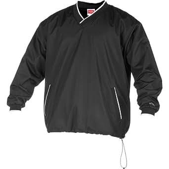 Rawlings Boys' Ryvnw2 Youth V-Neck Pullover Jacket(Black, Medium)