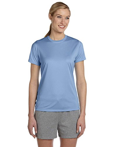 By Hanes Ladies Cool Dri With FreshIQ Performance T-Shirt - Light Blue - XL - (Style # 4830 - Original Label)