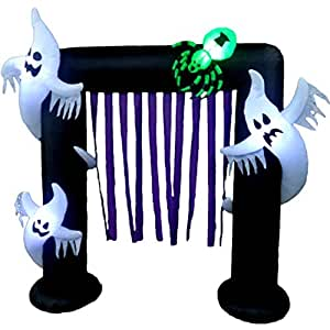Halloween Airblown Inflatable Surprise Decoration, Lighted Freestanding Indoor and Outdoor Archway & E-Book