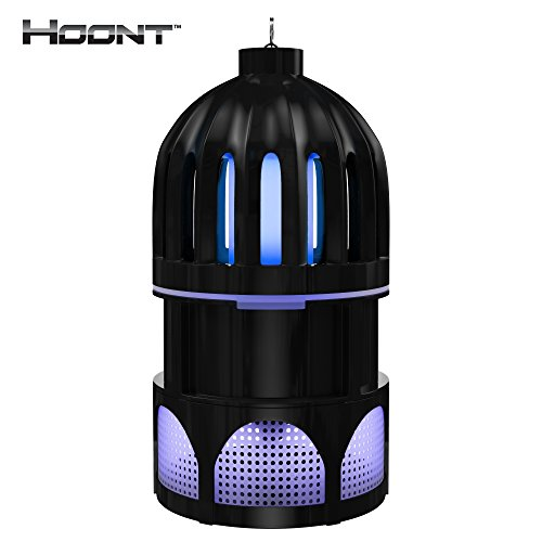 Hoont Indoor Robust Mosquito and Fly Trap with Bright LED UV Light Attracter and Fan / Get Rid of All Mosquitoes and Flies - For Residential and Commercial Use