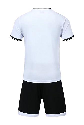 XFentech Hombres Niño Verano Ropa Deportiva Camiseta y Pantalones Cortos  Conjunto de Entrenamiento de Equipo de Competencia de Deportes Traje Todos  los ... 20284c46641b8