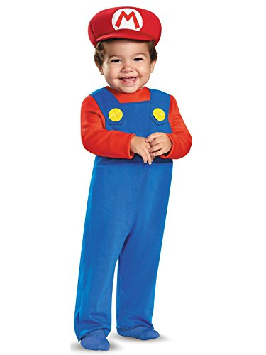 Disguise Baby Boys' Mario Infant Costume, Red, 12-18