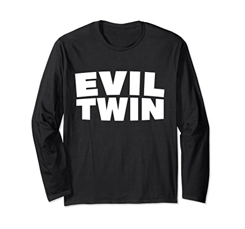 Unisex Evil Twins Funny Halloween Best Friend Costume Shirt Gift XL Black