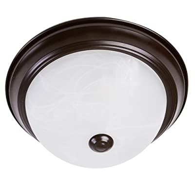 Yosemite Home Décor JK101-11ORB Flush Mount Series Two Lights Incandescent, Oil Rubbed Bronze