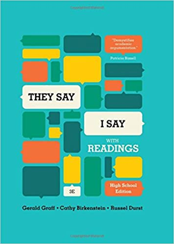 Amazon they say i say the moves that matter in academic they say i say the moves that matter in academic writing with readings third high school edition third high school edition thecheapjerseys Image collections