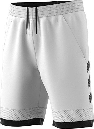 (adidas Pro Bounce Short Mens Basketball L White-Black )